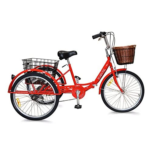 51H6oIpw7jL. SS500  - Jorvik 24 DUTCH STYLE ALUMINIUM FOLDING TRICYCLE TRAVEL TRIKE