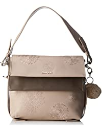 Desigual - Bols_aleida_mini Kiev, Shoppers y bolsos de hombro Mujer, Marrón (Cañamo), 8x24.5x28 cm (B x H T)