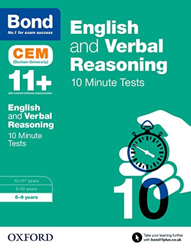 Bond 11+: English & Verbal Reasoning CEM 10 Minute Tests: 8-9 years