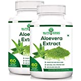 [Sponsored]Nutriherbs 100% Natural & Organic Aleovera Extract 800 Mg 60 Capsules (Pack Of 2)