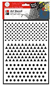 Marabu 028500008 Poliéster Plantilla de Estarcido Plantilla - Plantilla de Letras (Plantilla de Estarcido, Adulto, Poliéster, 210 mm, 297 mm)
