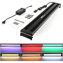 Amzdeal Lámpara Acuario Luces Impermeable LED paraAcuarios de Peces y Estanquescon Control Remoto (72 granos de la lámpara)