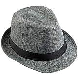 KYEYGWO - Sombrero de Vestir - para Hombre Gris Gris Oscuro Taille Unique