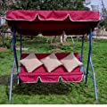 Loywe Hollywoodschaukel Gartenschaukel 3 Sitzer Modell LW-20