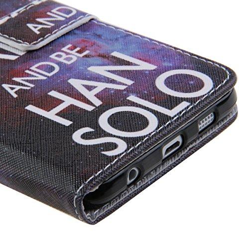iPhone 6 Wallet Case Cover - Felfy Ultra Slim Cuir Coque Pour Apple iPhone 6/6S 4.7 pouce Flip Keep Calm Motif PU Étui Portefeuille Housse Etui Holster + 1x Noir Touch Stylus + 1x Noir H
