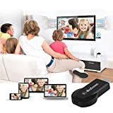 M2 Wireless-HD WiFi Display-Receiver DLNA Airplay Miracast DLAN Dongle HDMI 1080P USB mit WiFi 2 in 1 Kabel (schwarz)