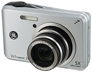 GE General Electric J1455 Digitalkamera (14 Megapixel, 5-fach opt. Zoom, 7,6 cm Display (3,0-Zoll), Auto-Panorama, Bildstabilisator, Li-Ion Akku) silber