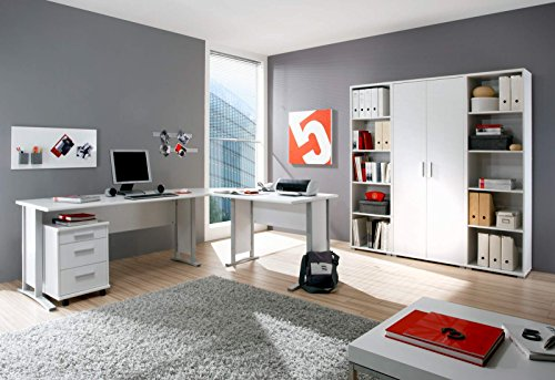 Büromöbel Aktenschrank - 7 teilige Büro komplett Set mit Aktenschrank