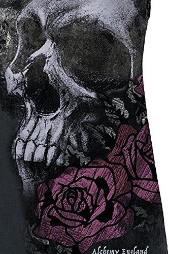 Alchemy England Crescent Skull Girl-Top grau Grau