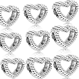 9 pezzi Charms Bead da Donna Argento Sterling 925 N 166