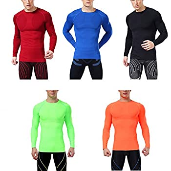 Ropalia Men Sport Athletic Top Compression Under Base Layer Long Sleeve T-shirt 1