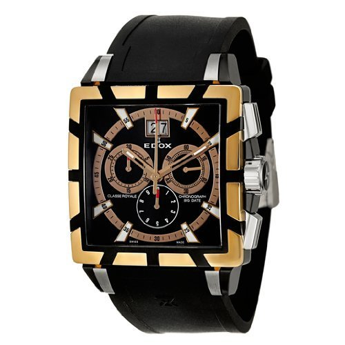 Edox Classe Royale Chronograph Big Date Men's Quartz Watch 10013-357RN-NIR