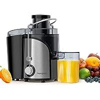Centrifugeuse Extracteur de Jus, Homgeek 600W Centrifugeuse Fruits et Légumes, 2 Vitesses 65MM Large Bouche en Acier…