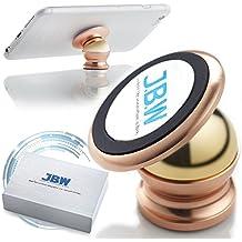 Montaje en el Auto, J.B.W. Juego de Montaje de Cuna Giratorio de 360 Grados de Soporte de Teléfono Inteligente de Montaje en El Auto de Teléfono Celular Magnético Supremo - Oro Roso