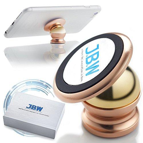 Support pour voiture, support magnétique pour cellulaire J.B.W Premium  Support cellulaire pour voiture  Support pour Smartphone pivotant 360 degrés  Kit de montage - Or rose