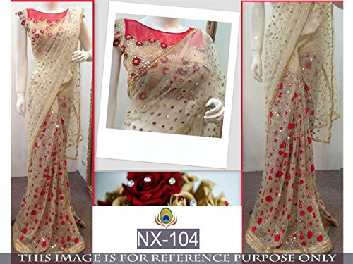 Saree ( By Design Women\'s Net Saree With Silk Blouse )