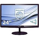 Philips 247E6QDAD/00 59,9 cm (23,6 Zoll) Monitor (VGA, DVI, HDMI, 1920 x 1080, 60 Hz) schwarz