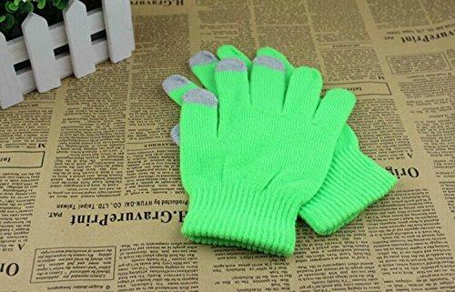 Preisvergleich Produktbild safeinu fluoreszierende Farbe Touchscreen Strick Warm Magic Handschuhe grün
