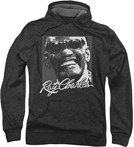 Ray Charles - Herren Signature Brille Hoodie, XXX-Large, Charcoal