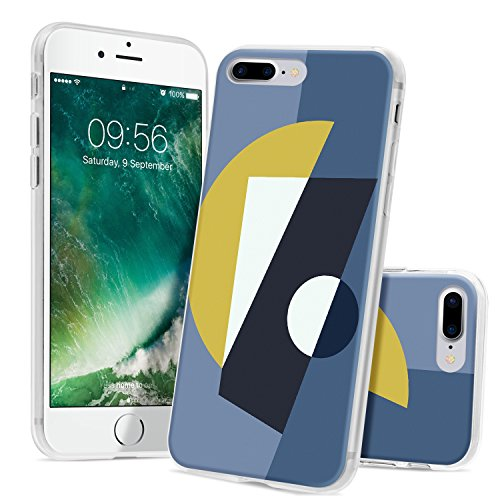 Ayotu iPhone 6 6s Case,Ultra Light Slim Case with Anti-Scratch Shockproof Bumper Soft TPU Silicone Frame Protective Phone Case Cover Skin for Apple iPhone 6/6s (4.7-inch)-The Green Leaves The Geometric Figure