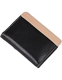 PSH Leather Travel Accessories Case Cash/Cheque Book Holder With Zipp Black Color (4.5 X 3 Inch)