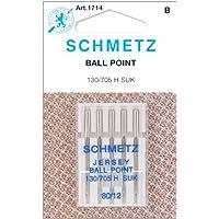 Spinrite Schmetz 1714C bola agujas de máquina de punto jersey, tamaño 80/12, 5unidades