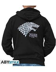 Sweat-Shirt Game of Thrones Noir Zip Capuche Logo Stark