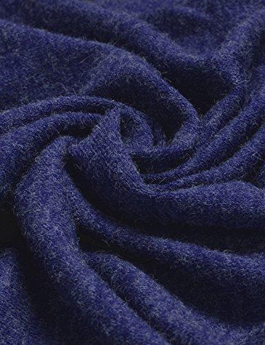 NEARKIN Herren Strickjacke, Durchgehend X-Large NKNKCD139-BLUE