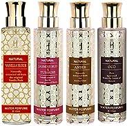 Hamidi Non Alcoholic Natural Water Perfumes for Unisex 100ML - Perfumes Gold Set - PACK OF 4 - Vanilla Elixir