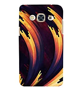 FLUIDIC Rotating Colour Pattern 3D Hard Polycarbonate Designer Back Case Cover for Samsung Galaxy J3 (2016) :: Samsung Galaxy J3 (2016) Duos with Dual-SIM Card Slots