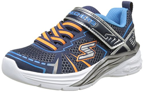 Skechers Boys' Dovex Trainers, Blue (Navy Blue), 1 UK 33.5 EU