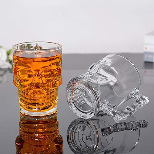 NACEO (2 unidades) Jarra de cráneo con asa, 480 ml
