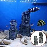 Lionina Künstliche Moai-Statuen der Osterinseln für Aquarien, Dekoration