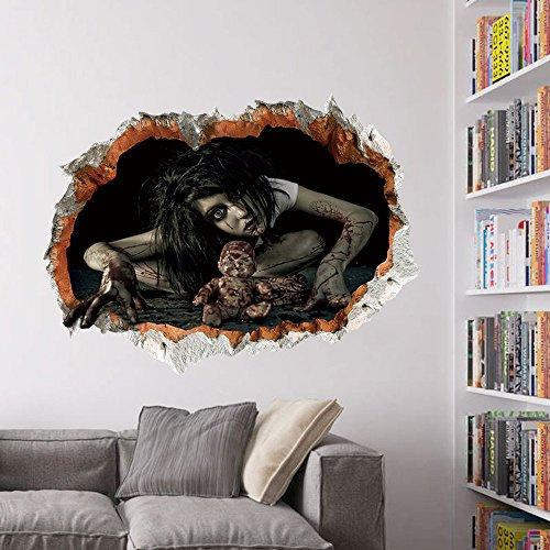Wandaufkleber Happy Halloween Haushaltszimmer Wandaufkleber Wandbild Decor Aufkleber Removable Terror hausgarten küche zubehör dekorative aufkleber wandbilder