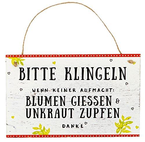Preisvergleich Produktbild Spiegelburg 13700 Gartenschild 'Bitte klingeln' I love my Garden