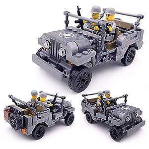Local Makes A Comeback - Ensamblando los juguetes de los niños del rompecabezas, coche de juguete militar de la asamblea de Jeep, desmontaje del bebé que ensambla el coche de juguete, 199pcs