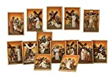 Cuadros de Resina Juego 14estaciones Via Crucis–Pascua–tamaño cm. 16,5x 11,5