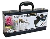 Royal & Langnickel RSET-ACRY2000 - Maletín para pintura acrílica (incluye 12 pinceles de fibra de taklon, puntas variadas)