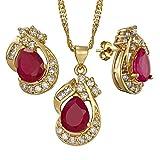 [RIZILIA LÁGRIMA] Conjunto de joyas Colgante con 45cm(18') Cadena &...
