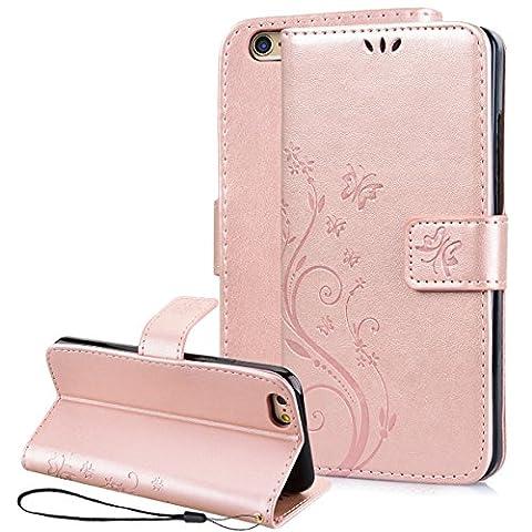 iPhone 6 Plus Coque , iPhone 6S Plus Case , SmartLegend Or Rose Cuir Coque pour Apple iPhone 6 Plus iPhone 6S Plus 5.5