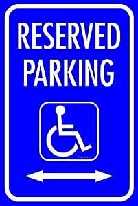 Handicap réservées au stationnement Panneau d'affichage en métal