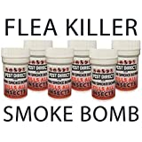 6 x Professional Strength Flea Insect Killer Smoke Bomb Fogger - Pet Dog Cat Fleas Home