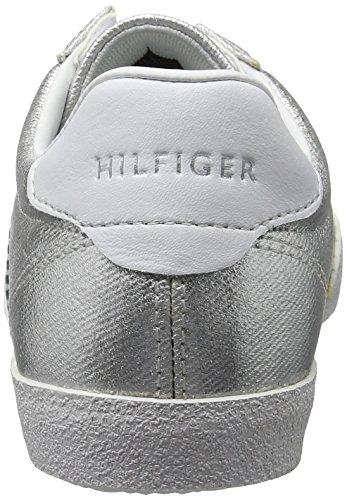 Tommy Hilfiger L1285izzie 1d1, Scarpe da Ginnastica Basse Donna Argento (Silver 019)
