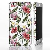 Coque pour iPhone, motif floral, plastique, 19: Vintage Floral Bouquet with Hibiscus...