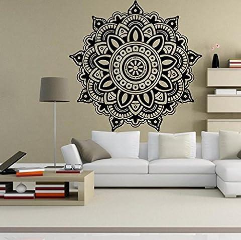 Vovotrade Fleur de mandala indienne Mur de la cChambre Décalque art Autocollants Mural Maison Vinyle Famille