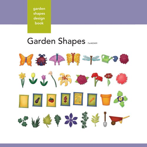 Xyron Garden-Shapes Design Book for Xyron Personal Cutting System -
