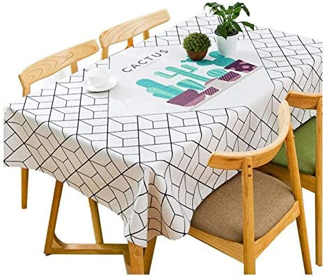 WSGZH Nordic Literary Tovaglia Tessuto Scrivania Rettangolare Stampa Tavolino Cotone Lino Salotto Tavolino Stampa Tovaglia da Ristorante Spessa Tovaglia (Dimensioni   120  120cm) c8a647