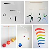 Set of 5 Montessori inspired mobiles - Black and white mobile, Orange Gobbi, Dancers, Octahedron, Rainbow. Montessori mobile. Baby mobile. Hanging mobile. Crib toy.