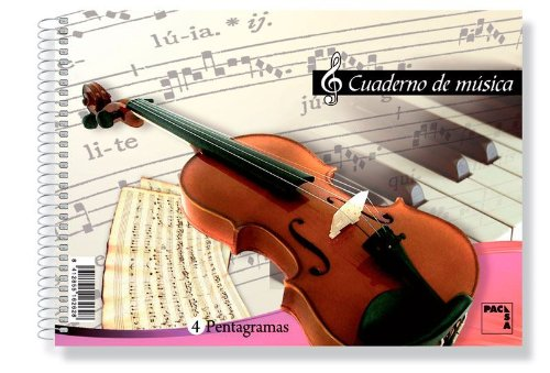 Pacsa 18801 - Bloc de música, 8 pentagramas, 1/4, 20 hojas