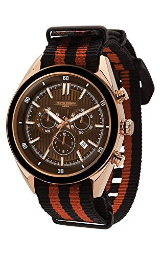 Jorg Gray JG6900–21N para Hombre Reloj cronógrafo Brown Dial Dos Tonos Correa de la OTAN